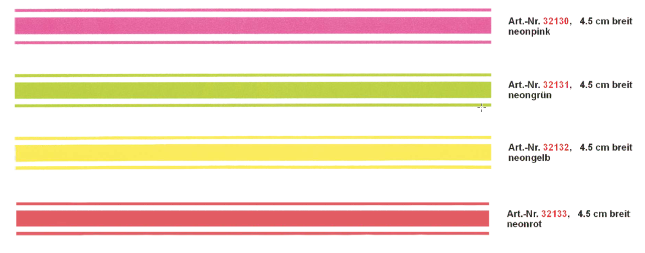 Rallye-Streifen bande 400 x 4,5 cm, couleur: orange-néon! – Bild 1