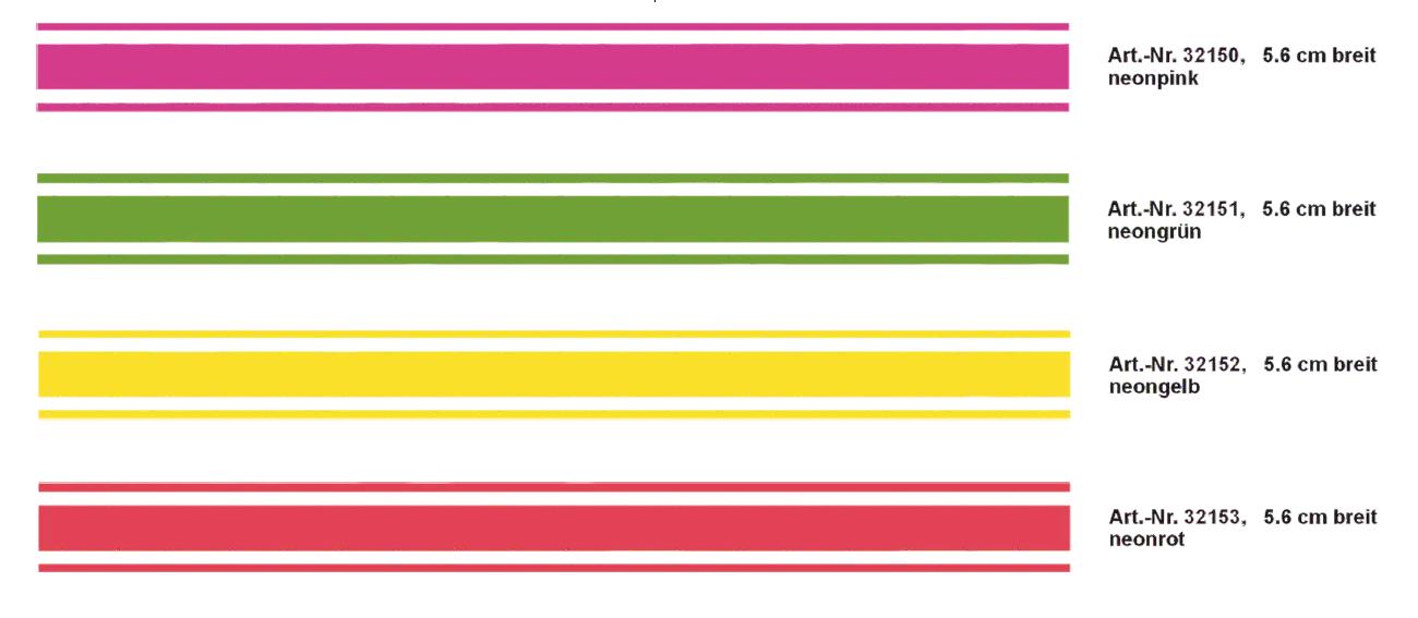 Rallye-Streifen bande 400 x 5,6 cm, couleur: vert-néon! – Bild 1