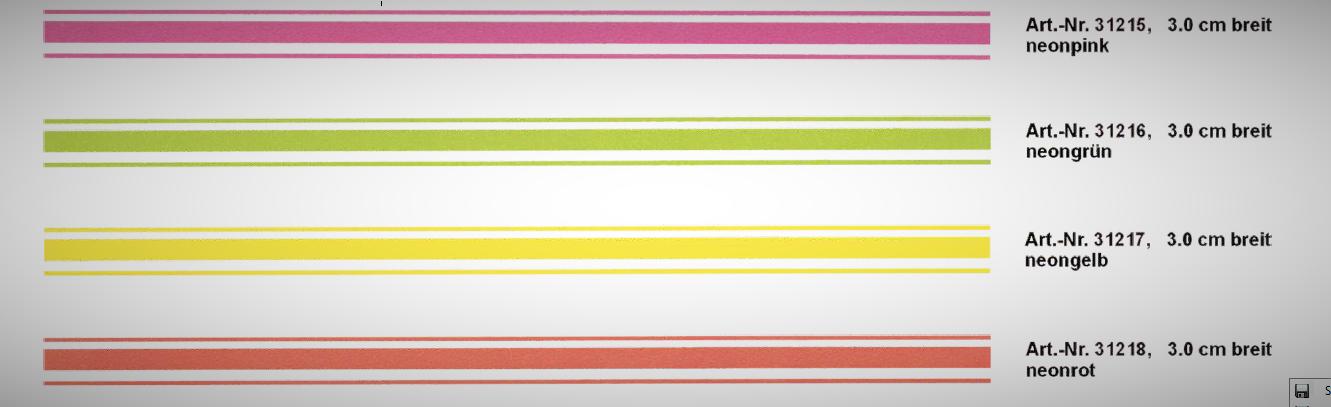 Rallye-Streifen bande 400 x 3 cm, couleur: vert-néon! – Bild 1