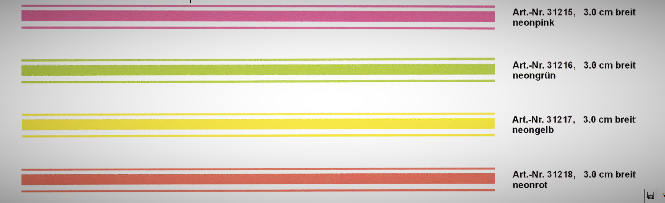 Rallye-Streifen bande 400 x 3 cm, couleur: orange-néon! – Bild 1