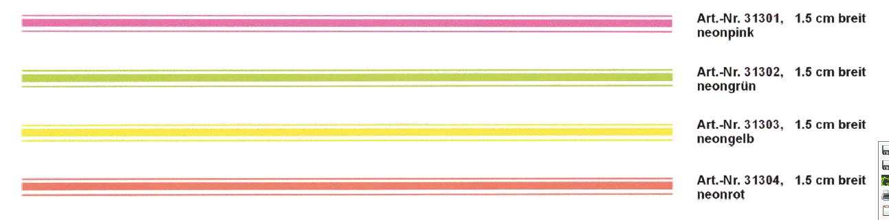 Mini-Rallye-Streifen bande 400 x 1,5 cm, couleur: jaune-néon! – Bild 1