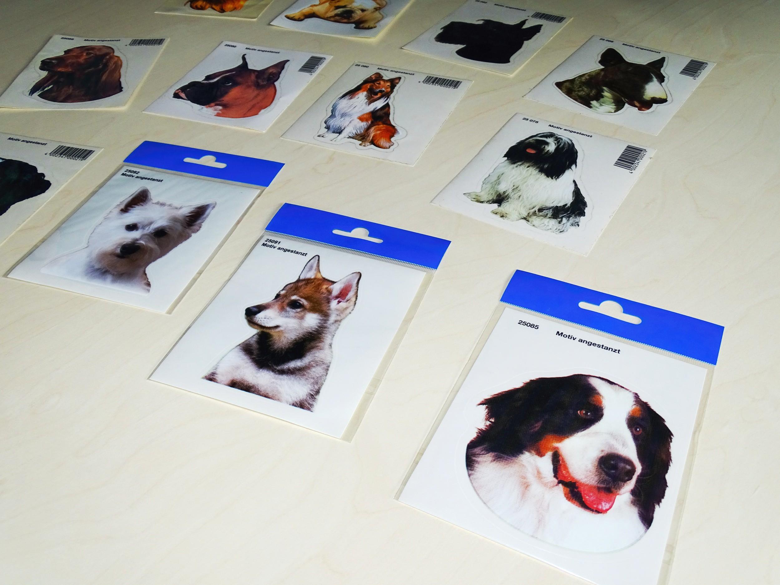Aufkleber Hund Französische Bulldogge 120 x 110 mm – Bild 4