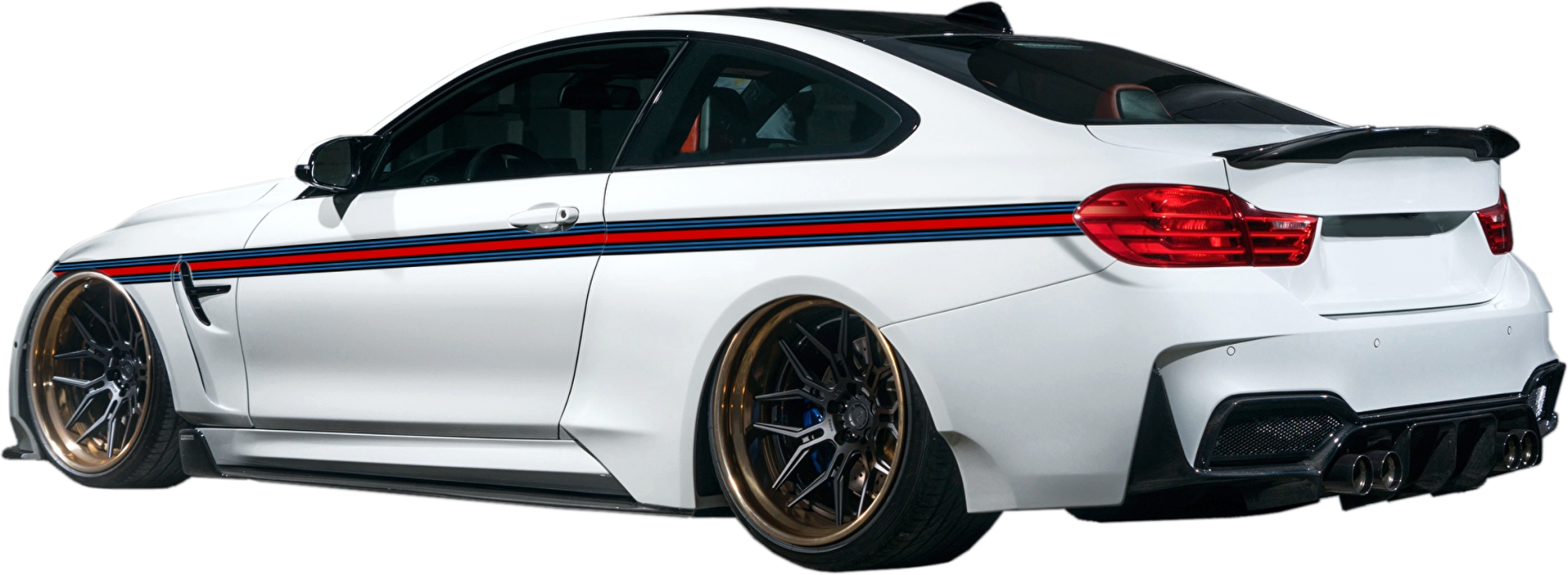 "Sripe Racing "" rouge/noir/bleu  5 m x 60 mm – Bild 1"