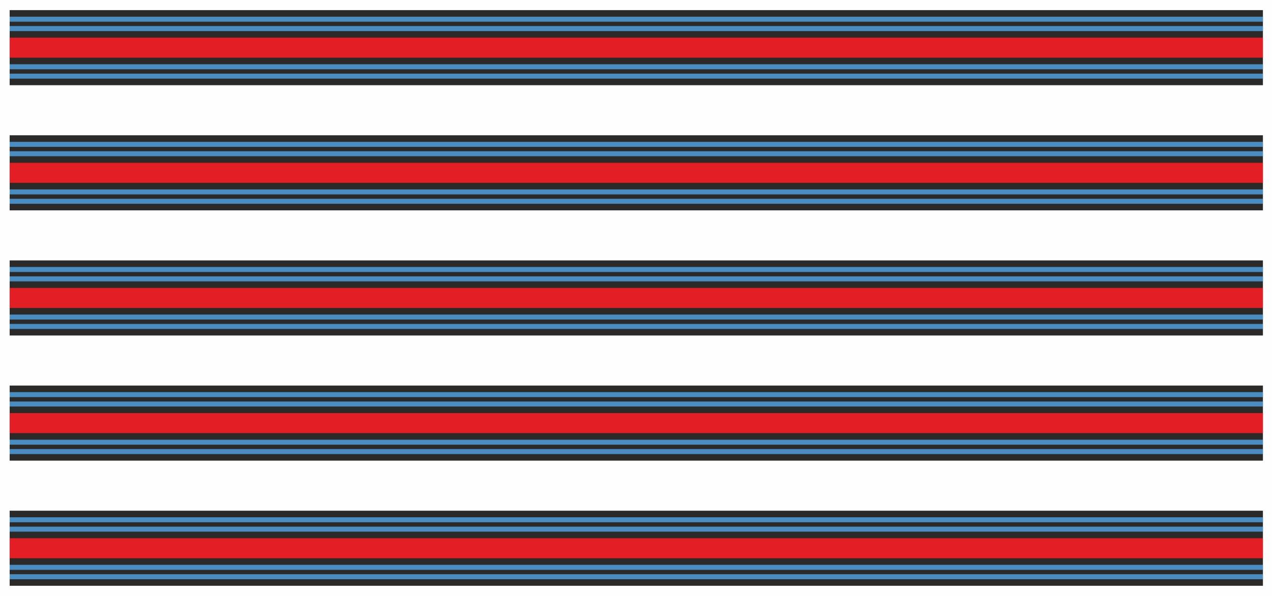 "Sripe Racing "" rouge/noir/bleu  5 m x 60 mm – Bild 2"