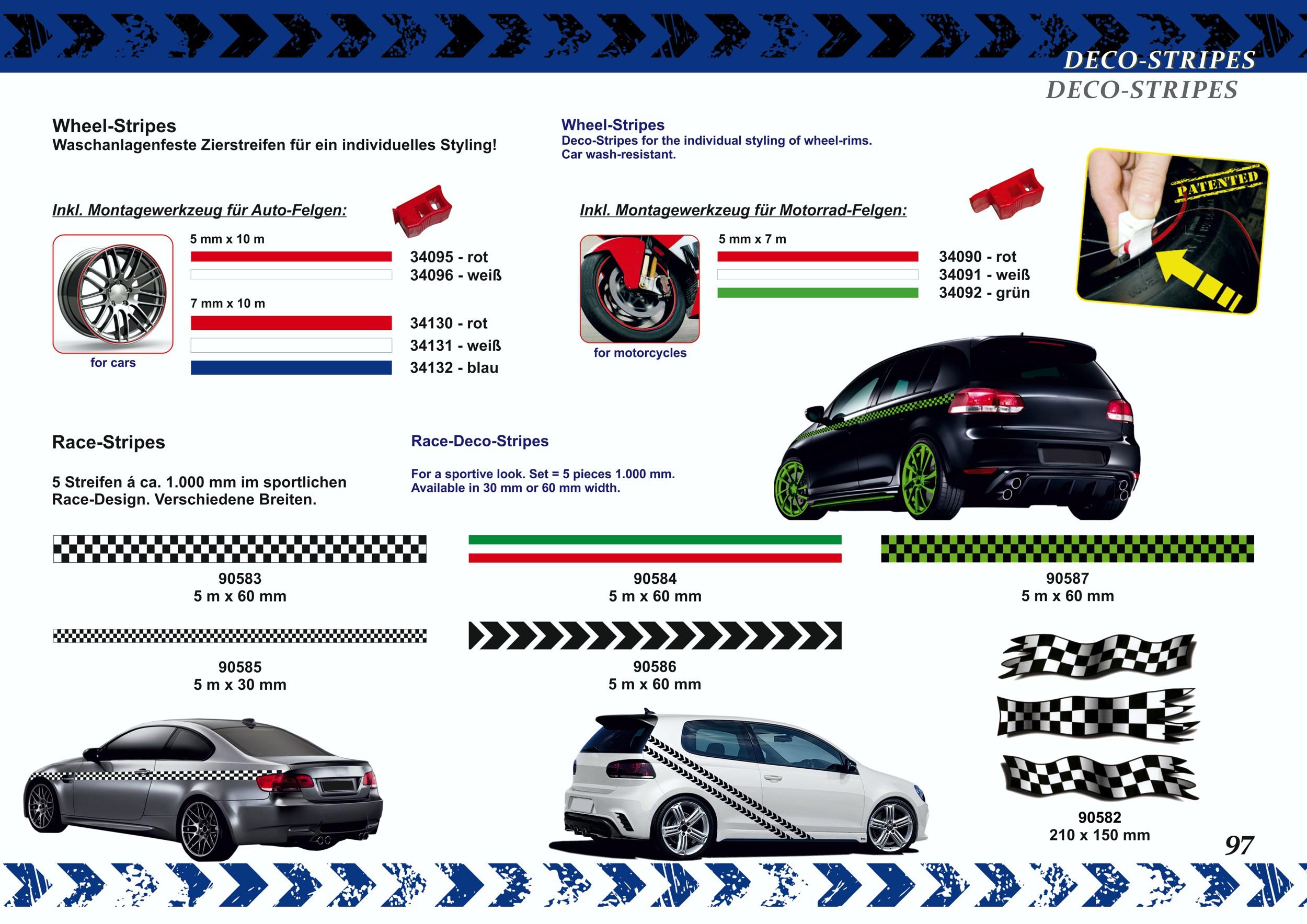 "Sripe Racing "" rouge/noir/bleu  5 m x 60 mm – Bild 5"