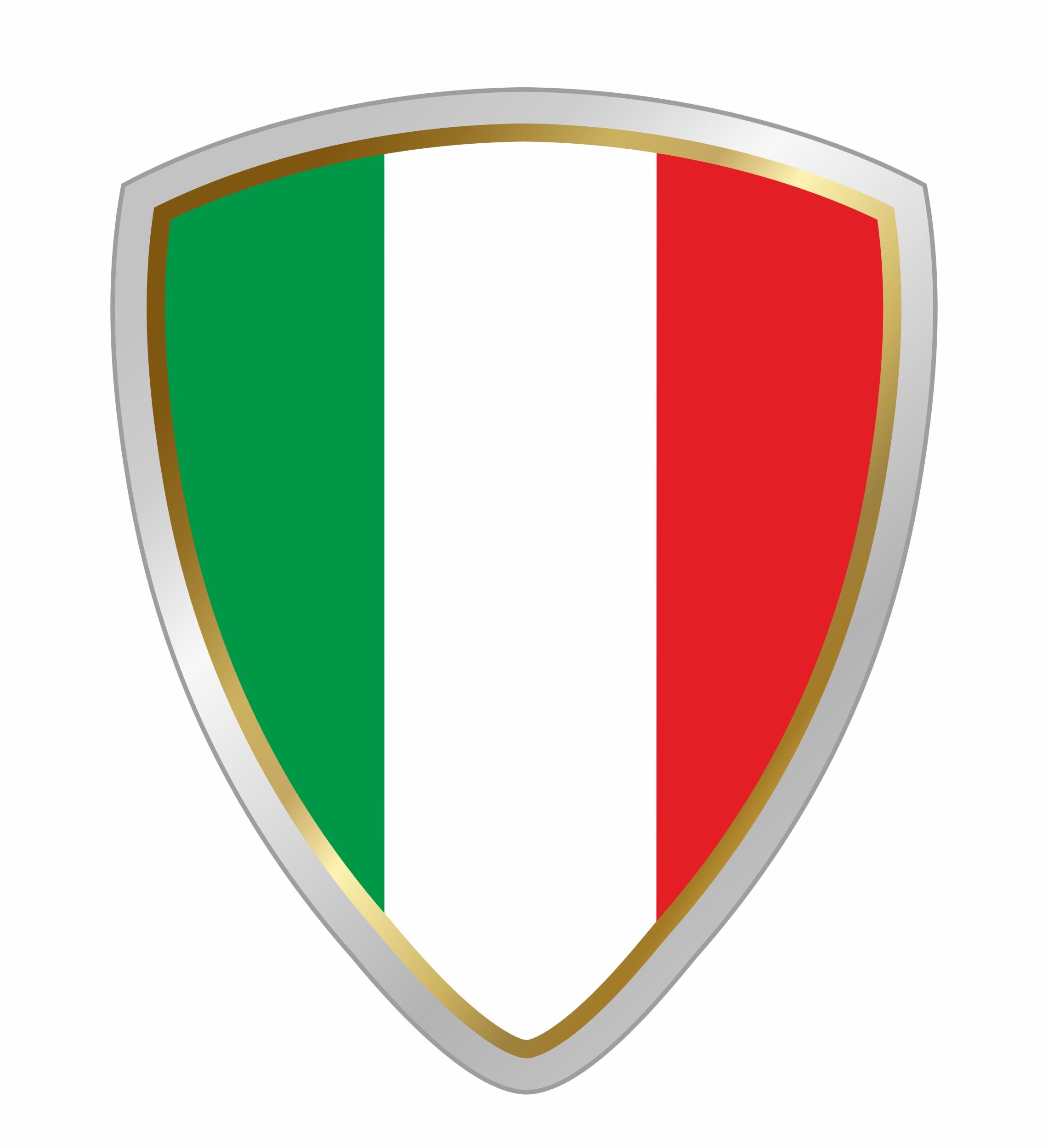 Aufkleber Wappen Italien 60 x 50 mm Hochwertige PVC-Folie – Bild 1