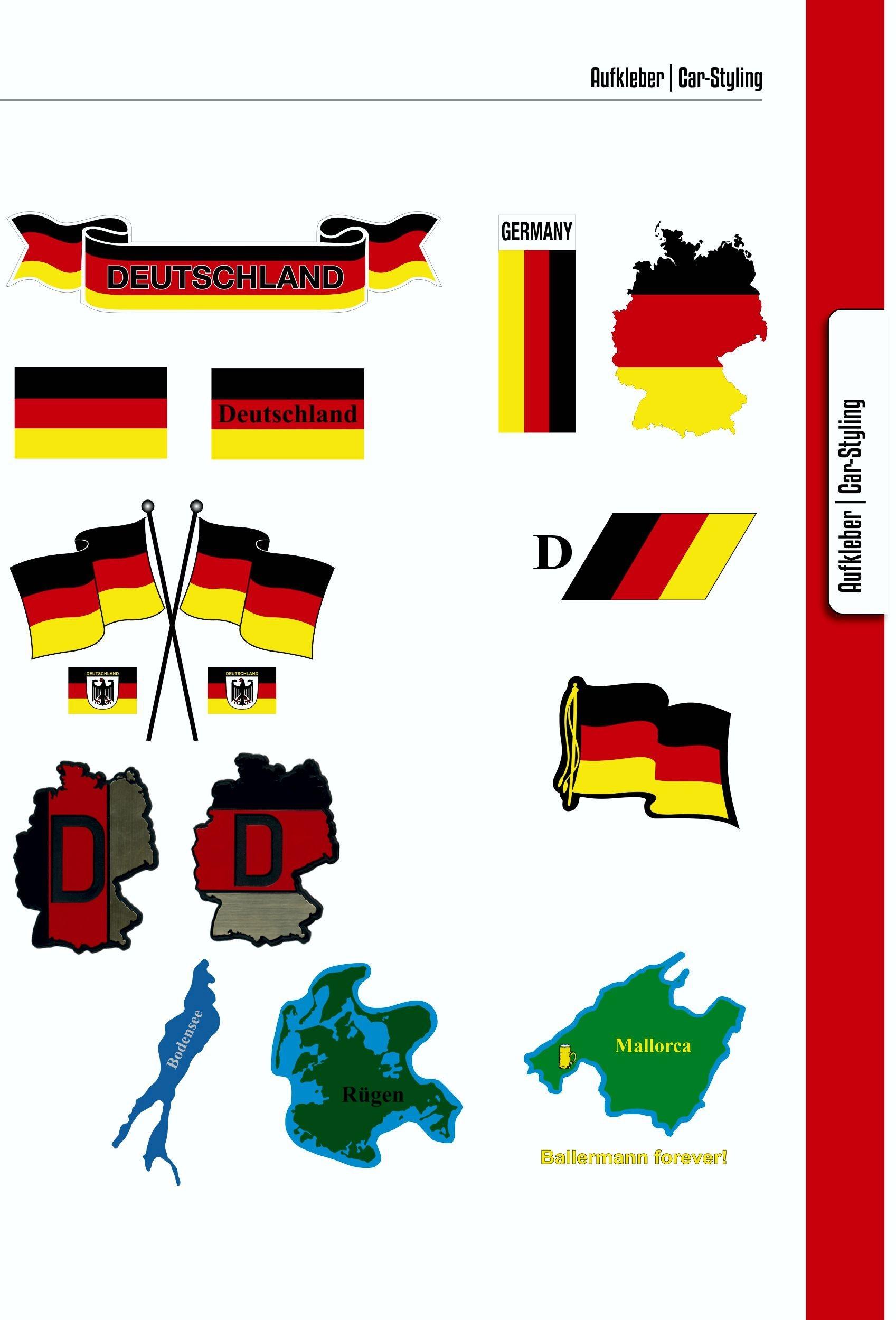Aufkleber Deutsche Wertarbeit 60 x 50 mm Hochwertige PVC-Folie