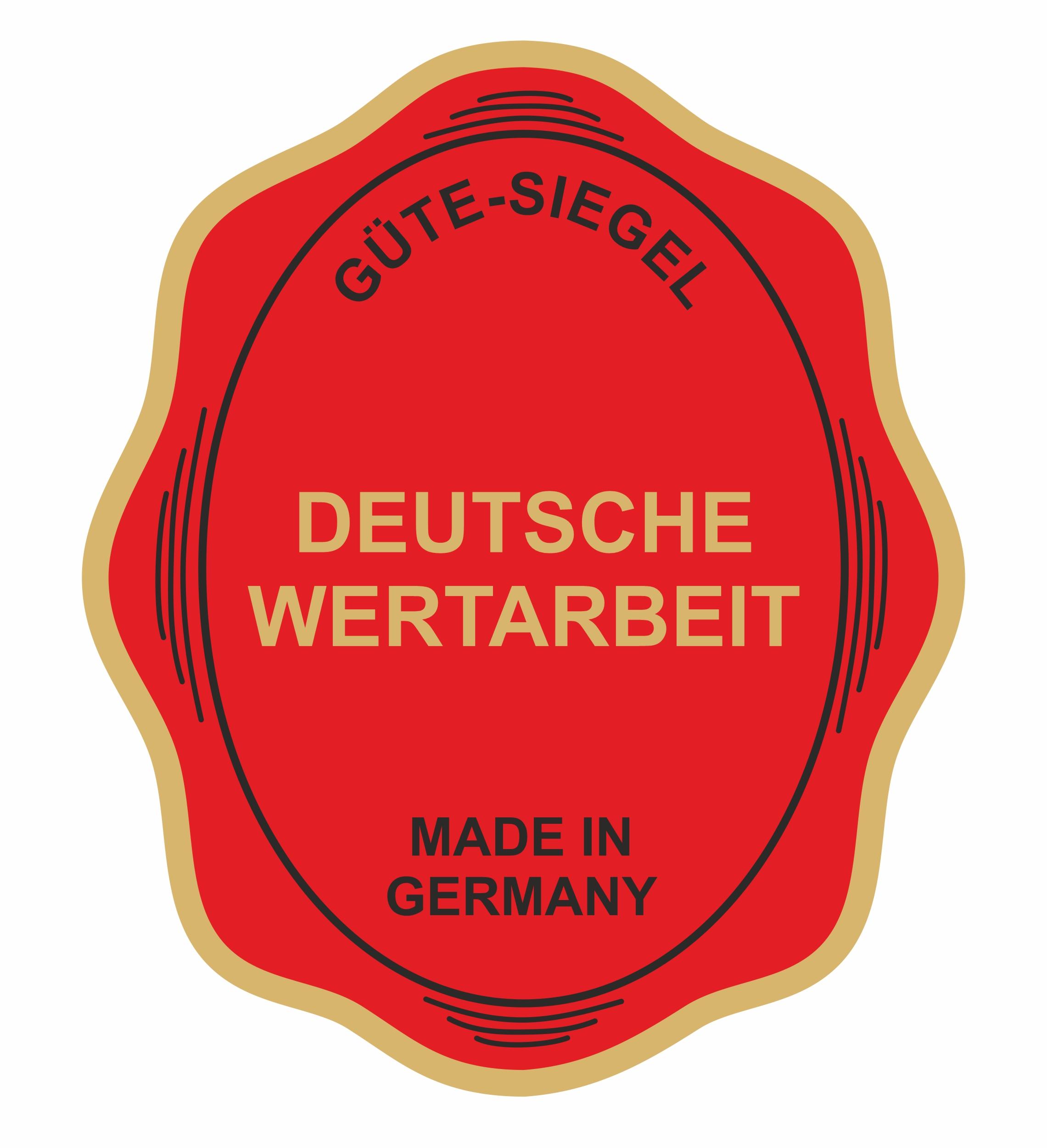Aufkleber Deutsche Wertarbeit 60 x 50 mm Hochwertige PVC-Folie – Bild 1