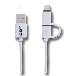 2GO 2 in 1 USB datacabel-with, 1 m – Bild 1