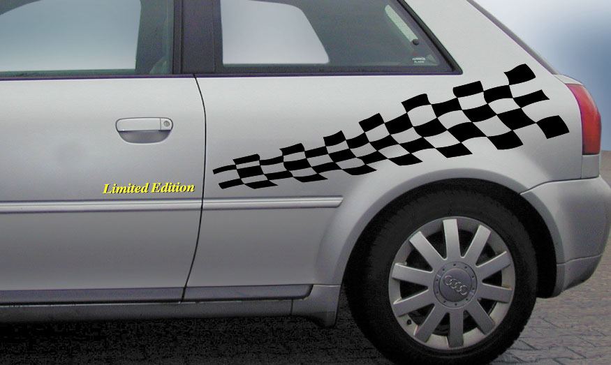 Car-Tattoo Future-Race-Dekor-schwarz /Limited-Edition! -gelb  – Bild 1