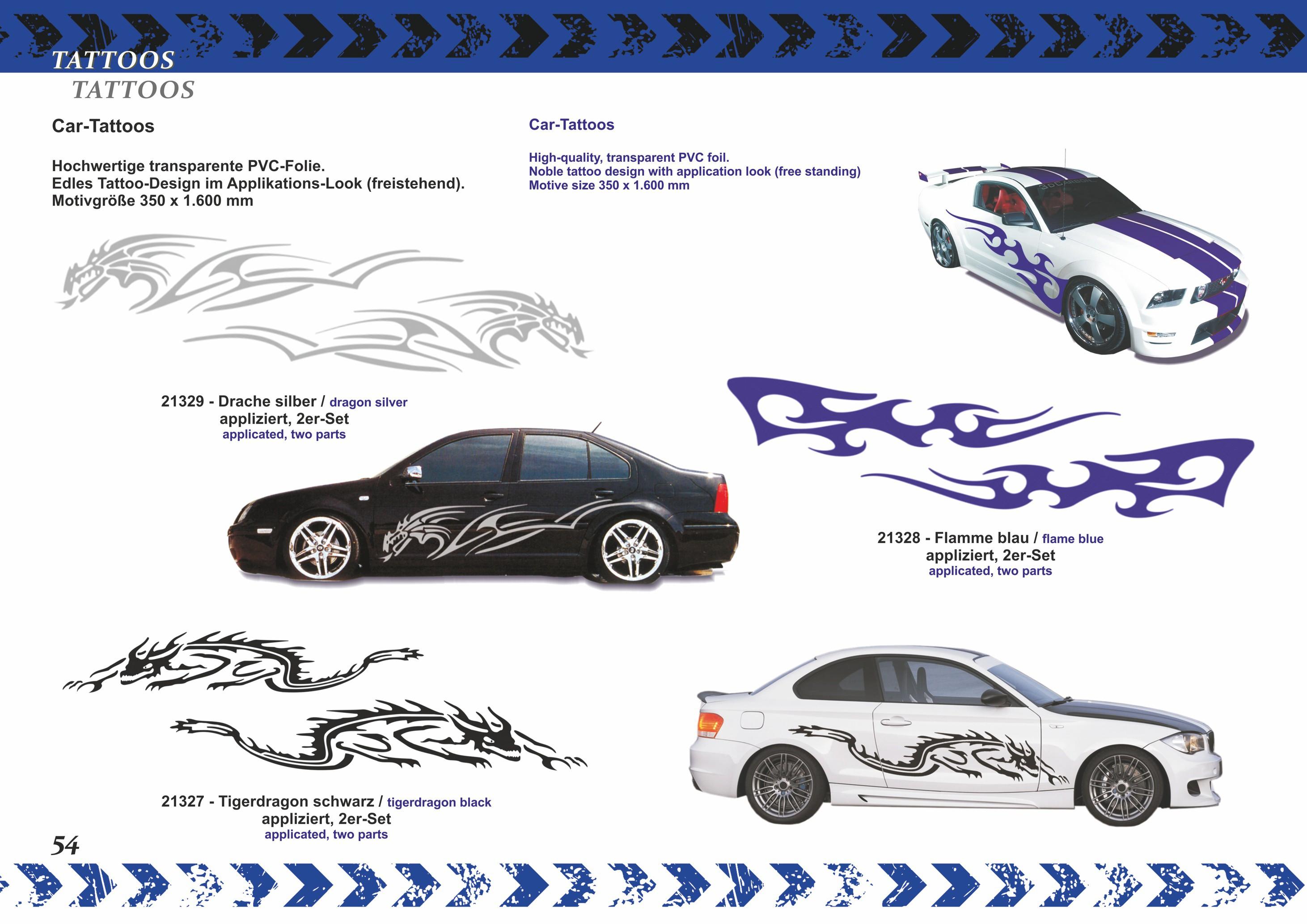 Car-Tattoo Future-Race-Dekor-schwarz /Limited-Edition! -gelb  – Bild 3