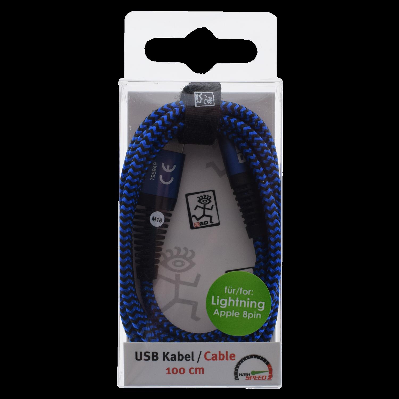 2GO USB Datacable USB-blue / Lightning Appel 8pin 1 m – Bild 2