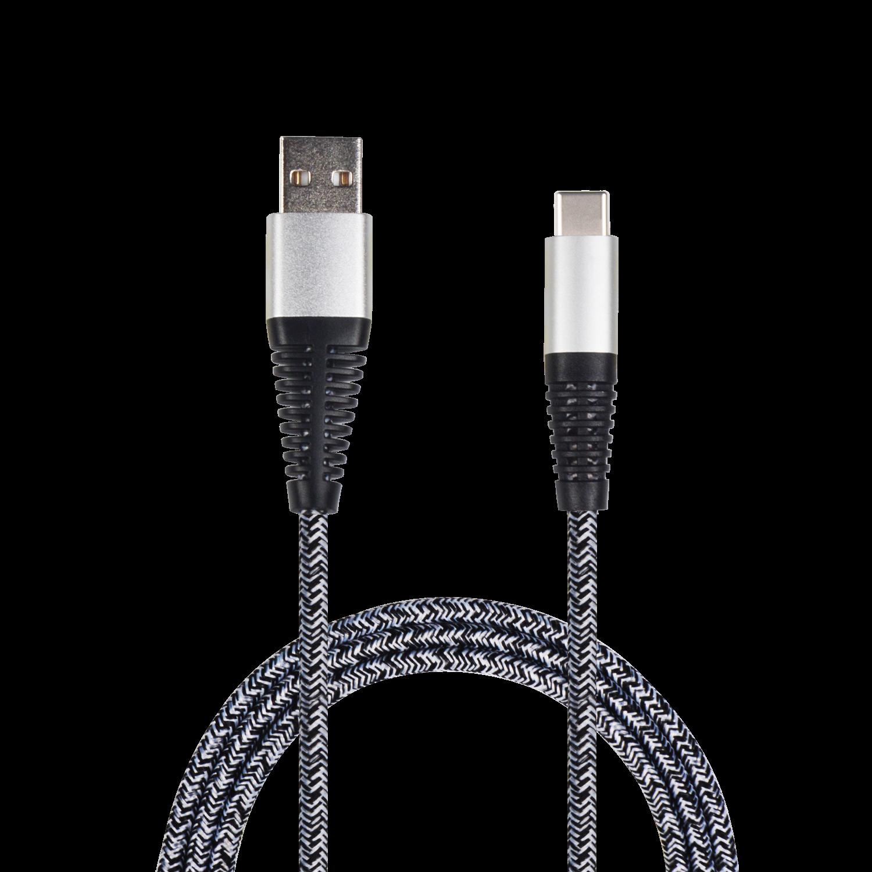 2GO USB Datacable USB-silver / Typ C, 1 m – Bild 1