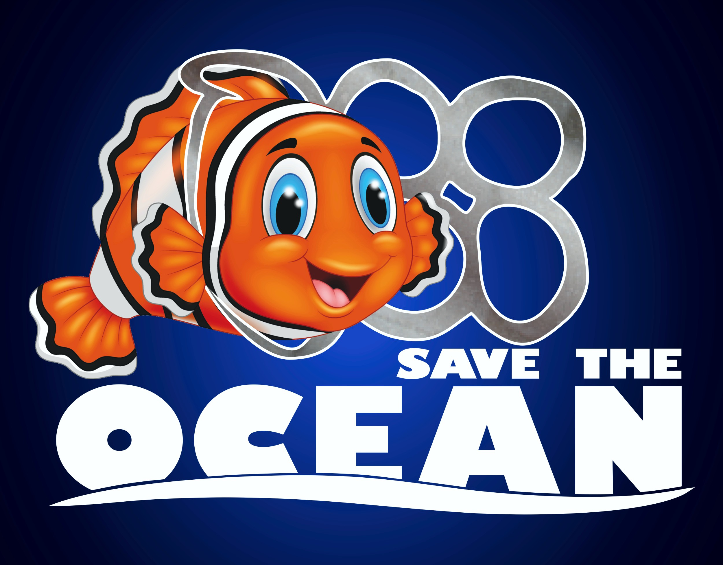 Aufkleber Save the ocean 115 x 149 mm 001