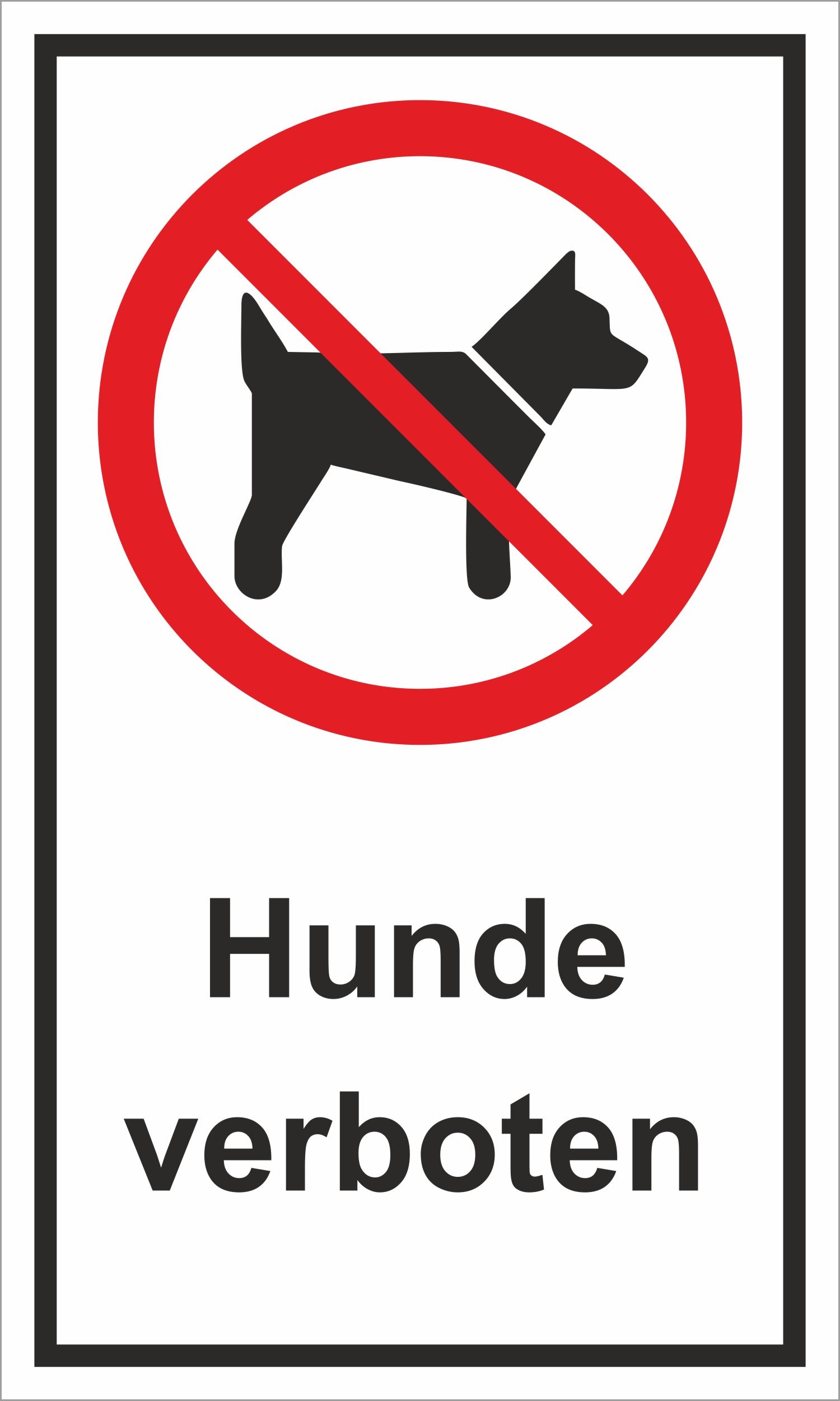 Hunde verboten 150 x 250 mm Warn- Hinweis- und Verbotsschild  PST-Kunststoff 001