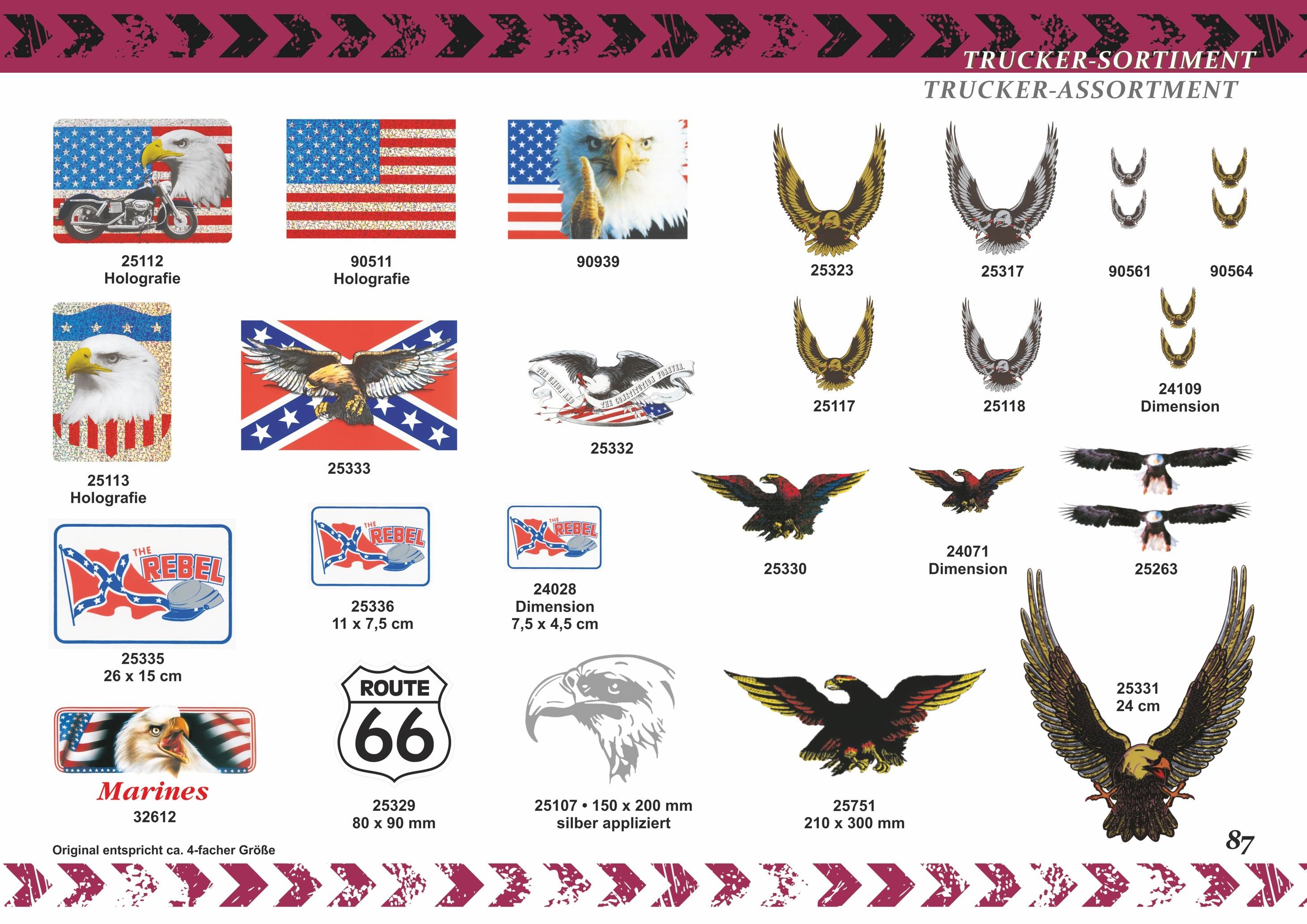 Aufkleber US-Flagge/Motorrad Holografie 150 x 110 mm – Bild 5