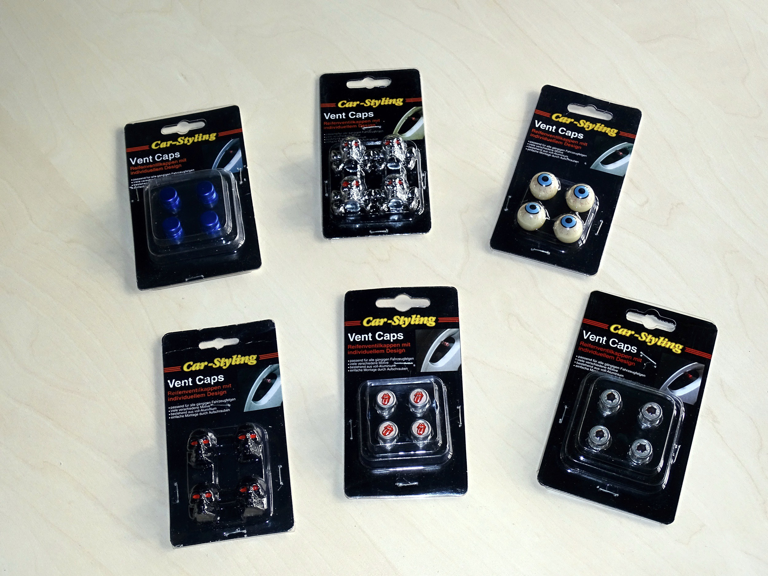 Ventilkappen Vent-Caps schwarz 4er Set – Bild 4