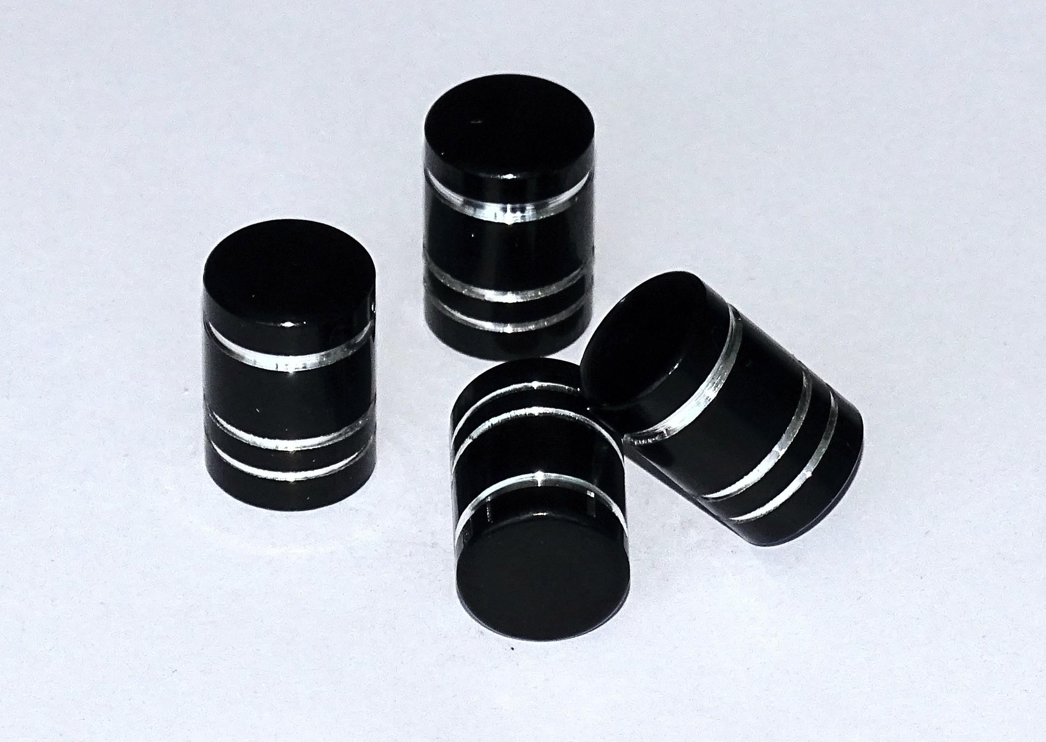 Vent-Caps black set: 4 pieces – Bild 1