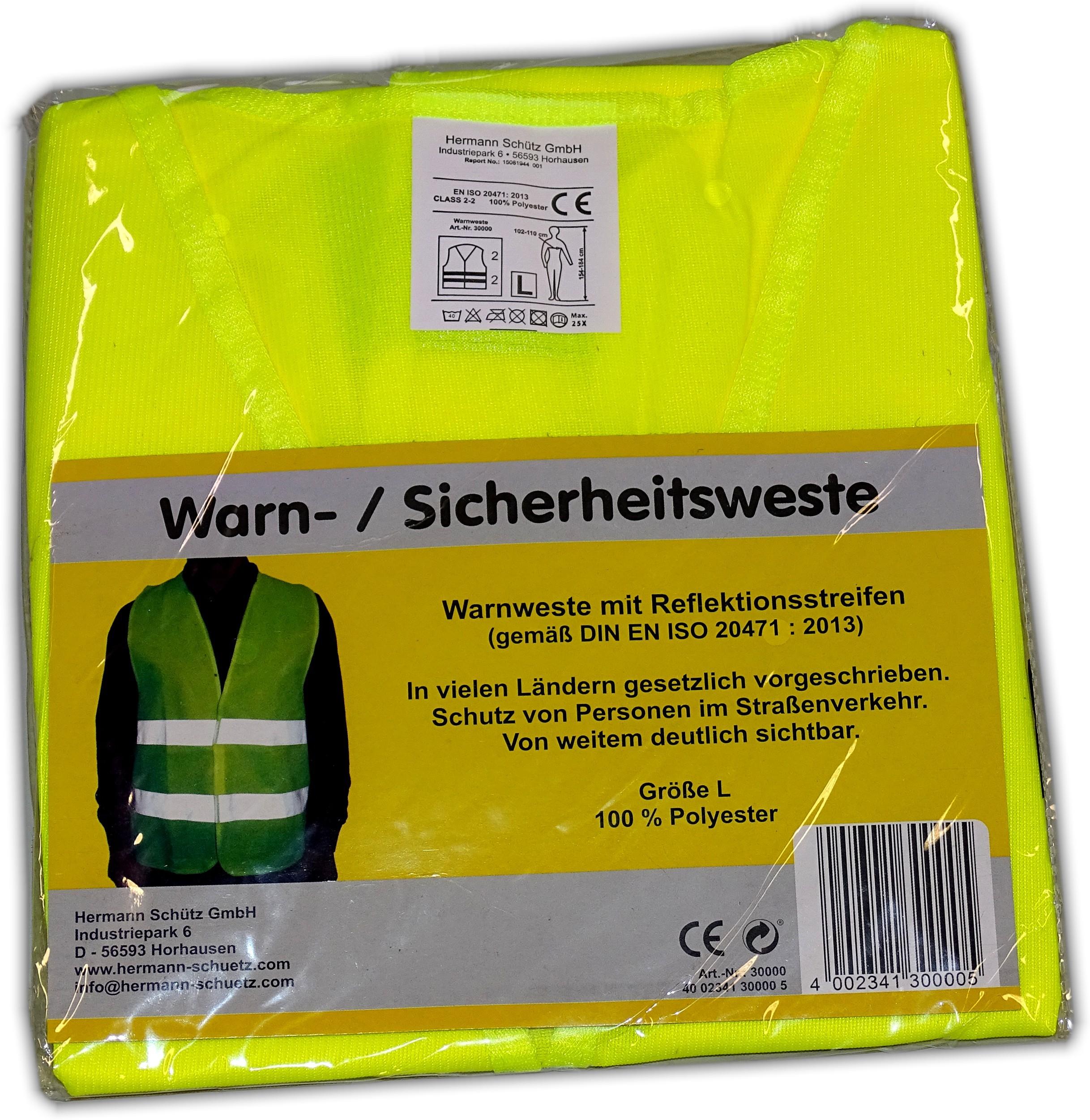 Warn- und Sicherheitsweste gelb – Bild 5
