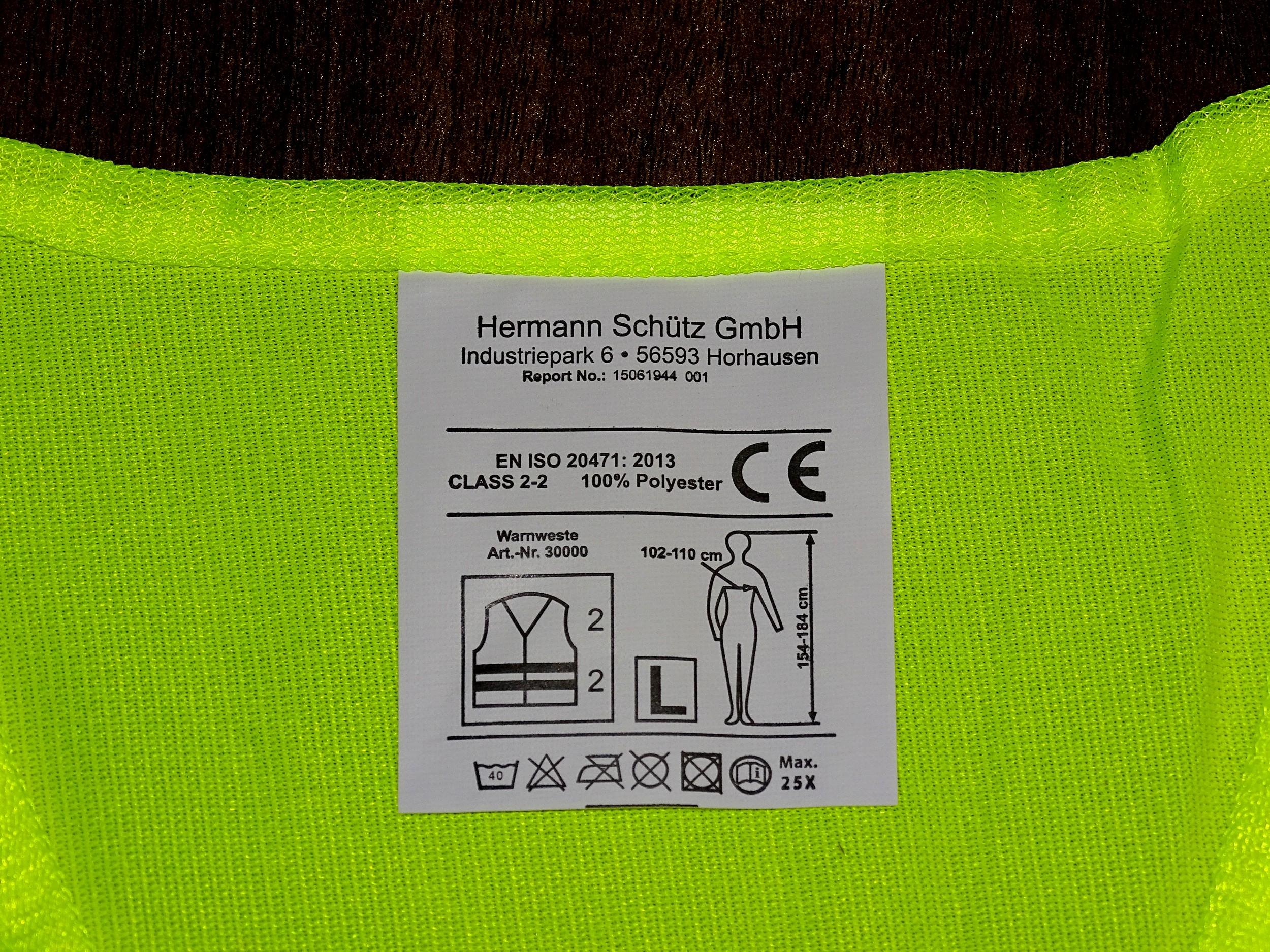 Warn- und Sicherheitsweste gelb – Bild 4