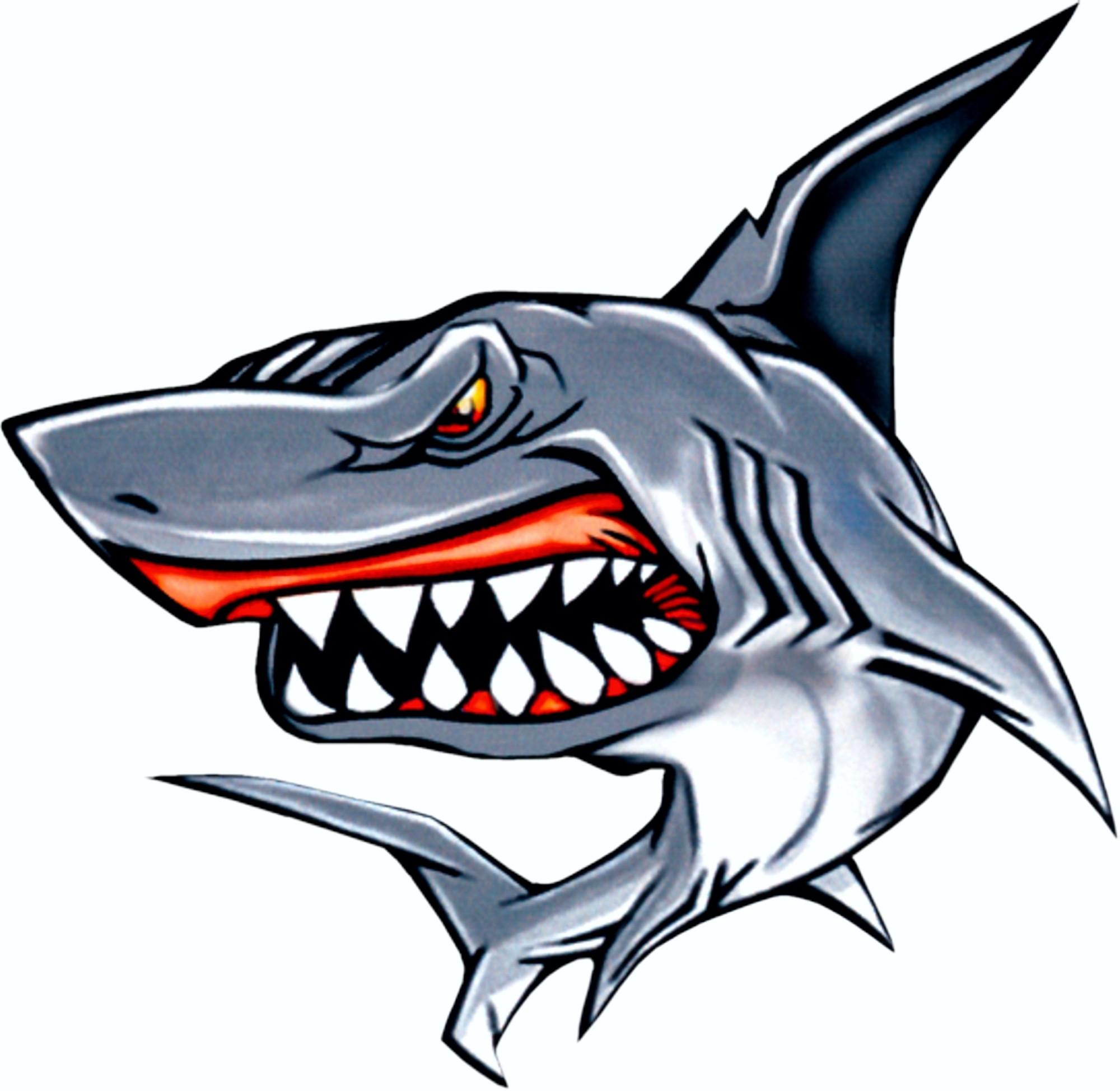 Autocollant requin 100 x 105 mm – Bild 1