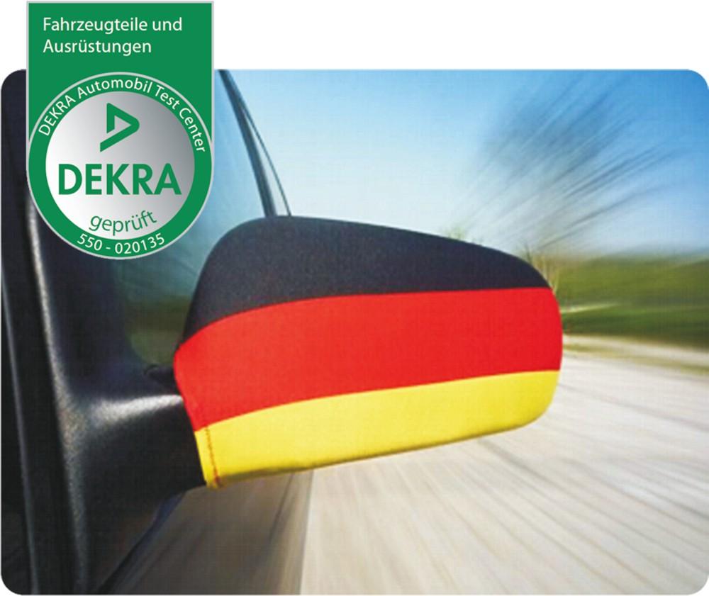Außenspiegelflagge Car-Bikini 2er-Set Deutschland Fanartikel Olympia – Bild 1