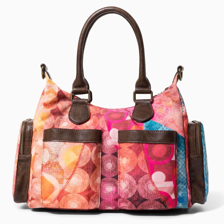 85927e70245a9 Desigual Damen Tasche Shopper Umhängetasche Mandala Prints ...