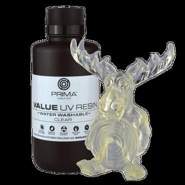 PrimaCreator Value Wasserabwaschbares UV-Harz - 500 ml - klar
