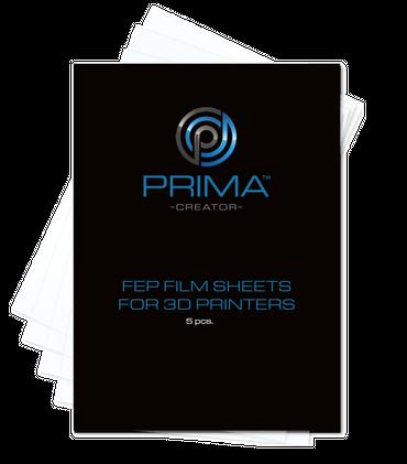 PrimaCreator FEP-Folienblätter für 3D-Drucker - 140 x 200 mm - 5er-Pack