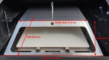 SET: PIZZA Einsatz + Direktgrilleinsatz für Pelletgrill - passt in beide Smoker  – Bild 5