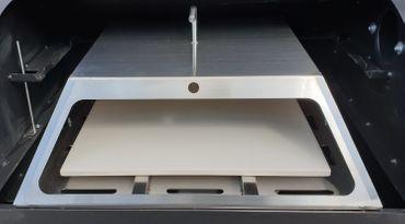 Kombi: Pelletsmoker L + Cover + V2A Rost + PIZZA + PLANCHA + 15 kg Pellets (Profi Pelletgrill Smoker Holzpelletsmoker Holzpelletgrill) – Bild 5