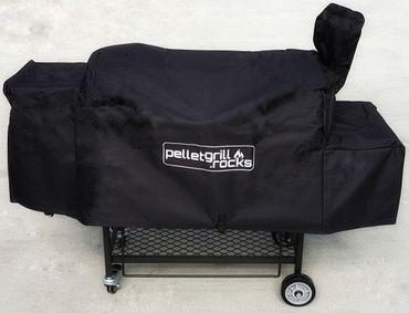 Kombi: Pelletsmoker L + Cover + V2A Rost + PIZZA + PLANCHA + 15 kg Pellets (Profi Pelletgrill Smoker Holzpelletsmoker Holzpelletgrill) – Bild 4