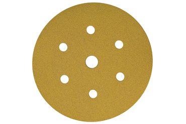 MIRKA Scheiben Gold Ø 150 mm Klett P400 7-fach gelocht (100 St)