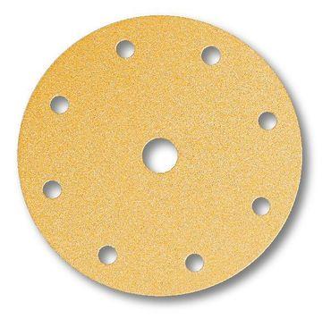 MIRKA Scheiben Gold Ø 150 mm Klett P100 9-fach gelocht (100 St)   – Bild 2