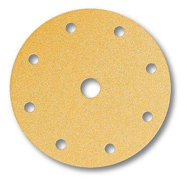 MIRKA Scheiben Gold Ø 150 mm Klett P240 9-fach gelocht (100 St)   – Bild 1