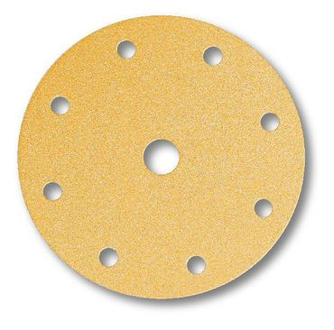 MIRKA Scheiben Gold Ø 150 mm Klett P400 9-fach gelocht (100 St)