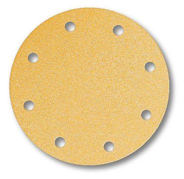 MIRKA Scheiben Gold Ø 200 mm Klett P100 9-fach gelocht (50 St)   – Bild 1