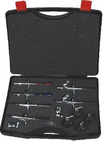 Airbrush Pistolen Koffer (für 6 Pistolen, 2 Becher, 4 Gläser)