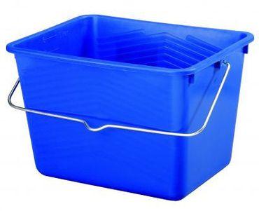Farbeimer 4-eckig, blau 12 Liter  VE=20 St – Bild 1