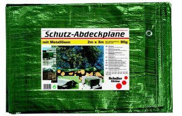 Schutzplane 90g, grün Breite  x Länge 2 m x 3 m  VE=35 St