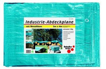 Industrie-Schutzplane 180g, blau/grau Breite  x Länge 6 m x 10 m  VE=2 St