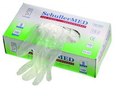 "Handschuhe, Schuller MED Vinyl Größe 9"" / L gepudert  VE=10 St"