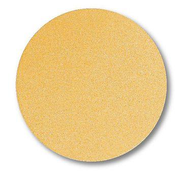 Schleifscheiben 150mm Gold Klebe P60 ungelocht 100 Stück