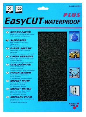 3 x Wasserschleifpapier, EasyCUT  Korn 180  VE=12 St