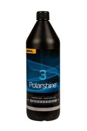 MIRKA Polarshine Nano Antistatic Wax 3  1000 ml    (1 St)  Ultrafeine Politur - Zur Versiegelung von polierten Oberflächen - Zur Lackaufbereitung und Hologrammentfernung - Anwendung mit flachem schwarzen Schaumstoffpad oder schwarzen gewaff – Bild 1