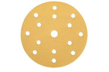 MIRKA Scheiben Gold Ø 150 mm Klett P180 15-fach gelocht (100 St)   – Bild 1