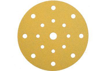 MIRKA Scheiben Gold Ø 150 mm Klett P120 17-fach gelocht (100 St)   – Bild 1