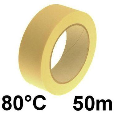 Krepp Kreppband Abdeckband Klebeband 50mm x 50m 80°C – Bild 1