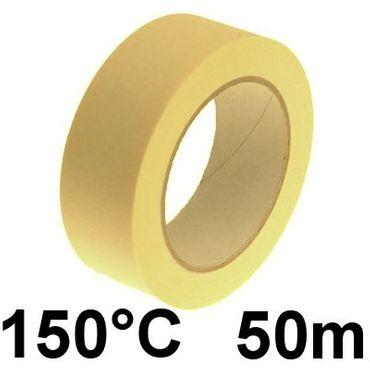 Krepp Kreppband Abdeckband Klebeband 25mm x 50m 150°C – Bild 2