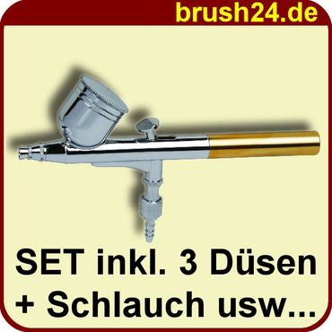 PROFI AIRBRUSH PISTOLE SET Airbrushpistole Double Action 130B